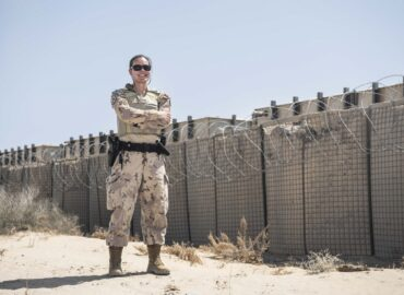 Master Corporal Tina Fahie, a member of the Military Police Unit deployed on Operation IMPACT, poses for a photo on September 25, 2020. Please credit: Sailor Third Class Melissa Gonzalez